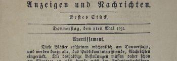 1791 – Gründung